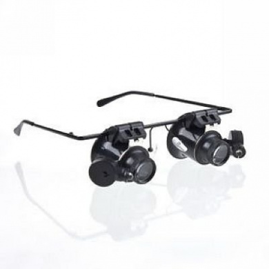 Generic 20X Eyeglasses Magnifying LED Light Jewellery Watch Clock Repair Magnifier Loupe