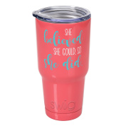 Occasionally Made O-SWW-30-CL She Believed Swig Tumbler, Coral,890ml