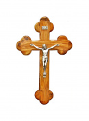 Fourteen stations Bethlehem Olive Wood Wall crucifix 14cm
