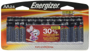 Energizer Max Alkaline AA Battery, 24-Count