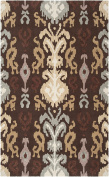 Surya Brentwood 1.5m x 2.4m Hand Hooked Rug in Brown