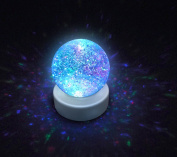 Glitter Ball Snow Globe With Led Colour Changing Mood Light By Playlearn