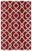 Kaleen Rugs Revolution Collection REV03-25 Red Hand Tufted 0.6m x 0.9m Rug