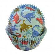 50 PC Set of Dinosaur Cupcake Liners - Baking, Caking and Craft Tools from Bakell
