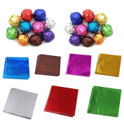 1 Bag(100 Sheets)Aluminium Foil Wrapping Paper for Chocolate and Sugar Candy