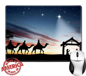 """Luxlady Natural Rubber Mouse Pad/Mat with Stitched Edges 9.8"""" x 7.9"""" IMAGE ID"""