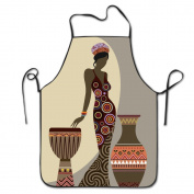 Afro American Women Adjustable Apron For Kitchen BBQ Barbecue Cooking Chef Waitress Great Gift For Wife Ladies Men Boyfriend