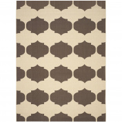 Safavieh Courtyard Collection CY6162-402 Beige and Chocolate Indoor/ Outdoor Area Rug