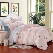 SAYM Home Bedding Sets Elegant Rural Style Print Twin Size Set For Lovely Teen Girls 100% Polyester Fibre Duvet Cover, Flat Sheet, Shams Set 4Pieces