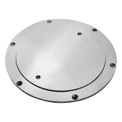 """6"""" Boat Deck Plate with Key by Salty Reef Marine Hardware Made from Heavy Duty 316 Marine Grade Stainless Steel"""