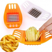 OUBORUI Stainless Steel Vegetable Potato Slicer Cutter Chopper Chips Making Tool Potato Cutting Fries