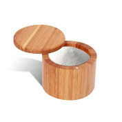 Everything Bamboo Salt, Condiment & Herb Box Container with Magnetic Lid for Secure Storage