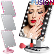 22 Led Touch Illuminated Make Up Cosmetic Bathroom Shaving Vanity Mirror Stand