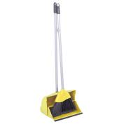 Long Handled Lobby Dustpan And Brush - Yellow