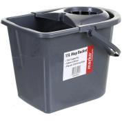 Marko Homewares 15l Plastic Mop Bucket Large Grey Home Cleaner Floor Cleaning