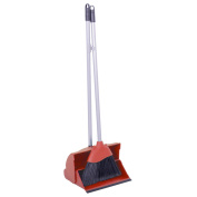 Long Handled Lobby Dustpan And Brush - Red