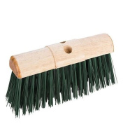 Heavy Duty Broom Head Stiff Saddle Back Brush Head Pvc Bristle Farm Yard Broom
