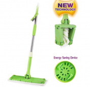 Twist Mop Squeeze Easy Rinse Saving Effort Microfiber Flat Mop