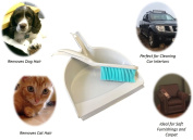 Pet Hair Remover Dustpan And Rubber Hand Brush Dog Cat Hair Cleaning Broom