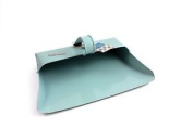 Blue Metal Dustpan Traditional Hooded Dust Pan With Handle