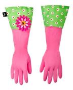 Vigar by Addis Flower Power Gloves, Green/Pink