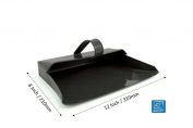 Traditional Large Metal Dustpan Hooded Design With Handle 12 Inch / 310mm Wide