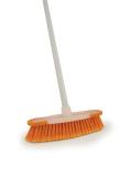 Orange Indoor Sweeping Broom Brush And Handle Kitchen Floor Sweeper Cleaner