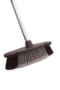 Soft Grip Graphite Broom With Silver Handle