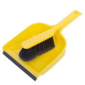 Yellow Dustpan And Brush | Soft Bristles