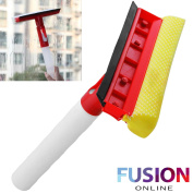 Window Cleaner 3 In 1 Spray Bottle Squeegee Wiper & Cloth Pad Cover Mirror Vac