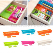 Adjustable Drawer Storage Organiser Home Kitchen Partition Divider Cabinet Box