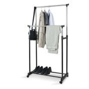 Domopak Living Double Garment Clothes Rail With Shoe Rack