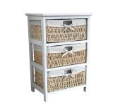 Maize Storage Unit 2 3 4 Wood Organiser Basket Drawers Bedroom Bathroom Cabinet