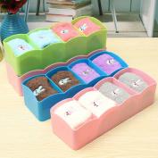 4 Grids Plastic Drawer Organiser Storage Diy Divider Box Closet For Tie Bra Sock