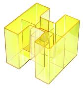 Han Bravo 109 X 109 X 90mm Desktop Organiser With 5 Compartments - Transparent
