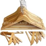 Wooden Coat Hangers Suit Garment Clothes Wardrobe Wood Hanger Trouser Bar