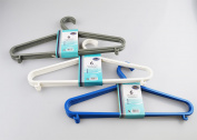 Coat Hangers Adult Plastic Pck 12 Clothes Garment Coat Hanger Trouser Bar+hooks