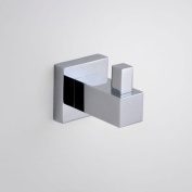 Square Robe Hook Towel Holder Bathroom Cloakroom Chrome Brass Metal Wall Mounted