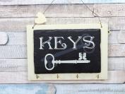 Slate Keys Key Rack 4 Hook Hanging Plaque