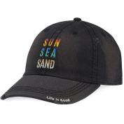 Life is good A Sun Washed Chill Sun Sea Sand Ngtblk Hat,,