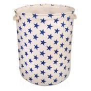 Cream Star Canvas Storage Basket - High Quality Basket For Household Storage X