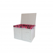 Arpan Large Laundry Paper Rope Linen Basket Storage Chest Trunk Hamper/kids