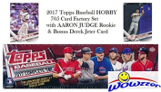 2017 Topps MLB Baseball HUGE 705 Card HOBBY Factory Set with AARON JUDGE ROOKIE & 5 EXCLUSIVE PARALLEL Cards #/175! Plus Special WOWZZER Bonus DEREK JETER Card! Includes all Cards from Series 1 & 2!