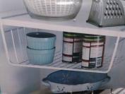 Space Saving Strong Chrome Kitchen Bathroom Under Shelf Storage Basket Unit 40cm
