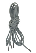 Grey Waxed Dress Shoe Laces - 2 Pair