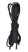 Black Flat Waxed Waterproof Dress Shoelaces 2 Pair