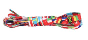 National Flags Pattern for Sneakers and Casual Shoes 2 Pair Shoelaces Replacements