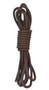 Coffee Colour Round Athletic Shoe and Sports Shoelaces 2 Pair