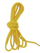 2 Pair Pack Half Round Shoe Laces for Casual Shoes - Yellow