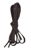 2 Pair Waterproof Flat Waxed Shoelaces for Leather Boots Dress Shoes